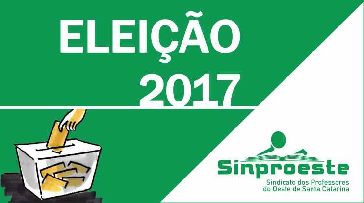 Dia 7 de novembro ocorre a eleição para a nova diretoria do Sinproeste